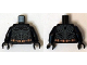 Part No: 973pb1884c01  Name: Torso Batman Logo with Body Armor Outline and Copper Belt Pattern / Black Arms / Black Hands