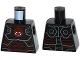 Part No: 973pb2171  Name: Torso Iron Skull with Hydra Logo Pattern