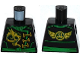 Part No: 973pb2300  Name: Torso Ninjago Robe with Gold Dragon, Green Sash and Asian Character and Wings on Reverse Pattern