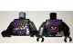 Part No: 973pb2535c01  Name: Torso Ninjago Robe with Purple Sash with Knot, Mechanical Parts and Silver Saw Blade Pattern / Flat Silver Arm Left / Black Arm Right / Black Hands