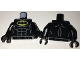 Part No: 973pb2541c01  Name: Torso Batman Logo in Yellow Oval with Muscles Pattern / Black Arms / Black Hands