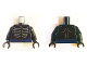 Part No: 973pb2844c01  Name: Torso Ninjago Skeleton Ribs Gray and Dark Blue Waist Sash Pattern and Gray Muscles Outline on Back / Black Arms / Black Hands