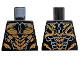 Part No: 973pb3060  Name: Torso Armor with Metallic Gold Scales and Dark Bluish Gray Lines Pattern