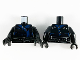 Part No: 973pb3309c01  Name: Torso Ninjago Three Belts with Dark Blue Straps with Spikes Pattern / Black Arms / Black Hands