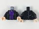 Part No: 973pb3315c01  Name: Torso Robe over Dark Purple Vest with 7 Buttons Pattern / Black Arms / Light Flesh Hands