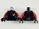 Part No: 973pb3593c01  Name: Torso Jacket with Dark Red Collar, Shoulders and Gryffindor Badge Pattern / Dark Red Arms / Black Hands