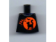 Part No: 973pb3678  Name: Torso Black Cat on Orange Moon Background and Bats Pattern