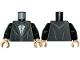 Part No: 973pb3697c01  Name: Torso Jacket with Wide Lapels, White Shirt with Black Bowtie and Vest Pattern / Black Arms / Light Flesh Hands