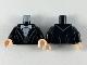 Part No: 973pb3698c01  Name: Torso Jacket with White Bowtie, Shirt and Black Vest Pattern / Black Arms / Light Flesh Hands