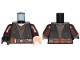 Part No: 973pb3752c01  Name: Torso SW Jedi Robe, Reddish Brown Belt, Tattered and Dirt Stains Pattern (Anakin) / Dark Brown Arms / Light Flesh Hand Left / Black Hand Right