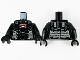 Part No: 973pb3953c01  Name: Torso Armor, Dark Bluish Gray Panel Lines, Red Arc Reactor and Silver Trim Pattern / Black Arms / Black Hands