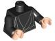 Part No: 973ps2c03  Name: Torso SW Jedi Robe, Waist Sash Pattern / Black Arms / Light Nougat Hands