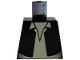 Part No: 973ps5a  Name: Torso Black Vest and White Shirt with Light Nougat Neck Pattern