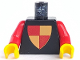 Part No: 973px45c01  Name: Torso Castle Classic Shield Quartered Red/Yellow Pattern / Red Arms / Yellow Hands