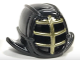 Part No: 98130pb05  Name: Minifigure, Headgear Helmet Ninjago Kendo with Gold Grille Mask Pattern