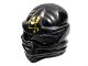 Part No: 98133pb08  Name: Minifigure, Headgear Ninjago Wrap with Gold Ninjago Logogram 'Earth' Pattern (Cole)