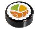 Part No: 98138pb038  Name: Tile, Round 1 x 1 with Sushi Salmon Maki Roll Pattern