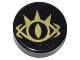 Part No: 98138pb071  Name: Tile, Round 1 x 1 with Goblin King Eye Pattern