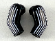 Part No: 981982pb212  Name: Arm, (Matching Left and Right) Pair with 6 White Stripes Pattern
