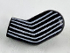 Part No: 981pb212  Name: Arm, Left with 6 White Stripes Pattern