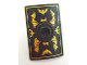 Part No: 98367pb02  Name: Minifigure, Shield Rectangular Curved with Stud with Gold Bat Wings and Batman Logo Pattern