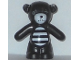 Part No: 98382pb005  Name: Teddy Bear with Dark Bluish Gray Button Eye and White Muzzle and Striped Stomach Pattern