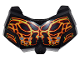 Part No: 98603pb024  Name: Large Figure Chest Armor Small with Bionicle Lava Beast Pattern