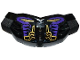 Part No: 98604pb003  Name: Hero Factory Chest Armor Large with Dark Purple, Gold and Light Bluish Gray Lines Pattern (Stickers) - Set 70789