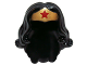 Part No: 98725pb01  Name: Minifigure, Hair Female Long Wavy with Gold Tiara and Red Star Pattern (Wonder Woman)
