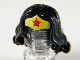 Part No: 98725pb03  Name: Minifigure, Hair Female Long Wavy with Yellow Tiara and Red Star Pattern (Wonder Woman)