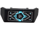 Part No: 98834pb02  Name: Vehicle, Spoiler 2 x 4 with Handle with Circuitry and Ultra Agents Logo Vertical Pattern (Sticker) - Set 70161