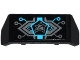 Part No: 98834pb04  Name: Vehicle, Spoiler 2 x 4 with Handle with Circuitry and Ultra Agents Logo Horizontal Pattern (Sticker) - Set 70167