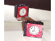 Part No: BA005pb02  Name: Stickered Assembly 3 x 1 x 2 with Clock Pattern on Both Sides (Stickers) - Set 379-1 - 2 Bricks 1 x 3