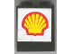 Part No: BA014pb01  Name: Stickered Assembly 2 x 1 x 2 with Shell Logo on White Background Pattern (Sticker) - Set 6378 - 2 Brick 1 x 2