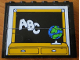 Part No: BA015pb01  Name: Stickered Assembly 6 x 1 x 4 with Classroom Blackboard and ABC Pattern (Sticker) - Set 3645 - 4 Brick 1 x 6