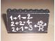 Part No: BA016pb01  Name: Stickered Assembly 8 x 1 x 5 with Classroom Blackboard and 1+1=2 Pattern (Sticker) - Set 291 - 5 Bricks 1 x 8