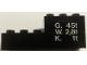 Part No: BA060pb01R  Name: Stickered Assembly 6 x 2 x 2 with 'G. 45t', 'W. 2,8t', 'K. 1t' on Trans-Clear Background Pattern Right (Sticker) - Set 7715 - 1 Brick 2 x 3, 1 Brick 1 x 6