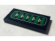 Part No: BA102pb01  Name: Stickered Assembly 2 x 4 with Green and Silver Vent Pattern (Sticker) - Set 7702 - 2 Tiles 1 x 4