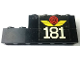 Part No: BA114pb01L  Name: Stickered Assembly 6 x 1 x 2 with White '181' and Red Train Wheel Pattern Model Left Side (Sticker) - Set 181 - 1 Brick 1 x 4, 1 Brick 1 x 6