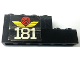 Part No: BA114pb01R  Name: Stickered Assembly 6 x 1 x 2 with White '181' and Red Train Wheel Pattern Model Right Side (Sticker) - Set 181 - 1 Brick 1 x 4, 1 Brick 1 x 6
