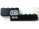Part No: BA118pb01R  Name: Stickered Assembly 8 x 1 x 2 1/3 with White 'DB 7810' Pattern Model Right Side (Sticker) - Set 7810 - 1 Plate 1 x 4, 1 Brick 1 x 4, 1 Brick 1 x 6