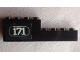 Part No: BA120pb01R  Name: Stickered Assembly 8 x 1 x 2 with White '171' with White Border on Black Background Pattern Model Right Side (Sticker) - Set 171-1 - 1 Brick 1 x 4, 1 Brick 1 x 8