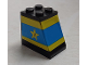 Part No: BA250pb01  Name: Stickered Assembly 2 x 3 x 2 with Blue and Yellow Stripes, Star and Letter J Pattern (Sticker) - Set 1554 - 2 Brick 1 x 2, 1 Plate 2 x 2, 1 Slope 65 2 x 2 x 2