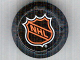 Part No: bb0116pb02  Name: Sports Hockey Puck, Large with NHL Logo Pattern (Sticker)