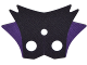 Part No: bb0725pb01  Name: Minifigure, Cape Cloth, 6-Pointed Collar with 2 Dark Purple Points Pattern