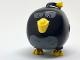 Part No: bb0781c01pb01  Name: Body Angry Birds Bomb with Bright Light Orange Plume, Beak and Feet, Dark Bluish Gray Feathers on Stomach and around Eyes Pattern