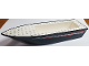 Part No: bfloat1c01pb01  Name: Boat Hull Unitary 24 x 6 x 3 with Red and White Racing Stripes Pattern on Both Sides (Stickers) - Set 4002