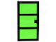 Part No: x39c03  Name: Door 1 x 4 x 6 with 3 Panes with Trans-Green Glass