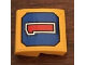 """Part No: 15068pb178  Name: Slope, Curved 2 x 2 with Red Number """"1"""" on Blue Background Pattern (Sticker) - Set 21311"""