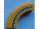 Part No: 24599pb03a  Name: Brick, Round Corner 5 x 5 x 1 without Studs with Damaged Medium Azure Stripe and Rust Pattern Side A (Sticker) - Set 70423